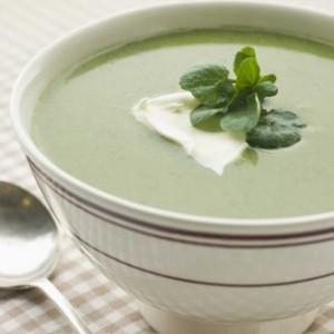 soupe d'avocat froide