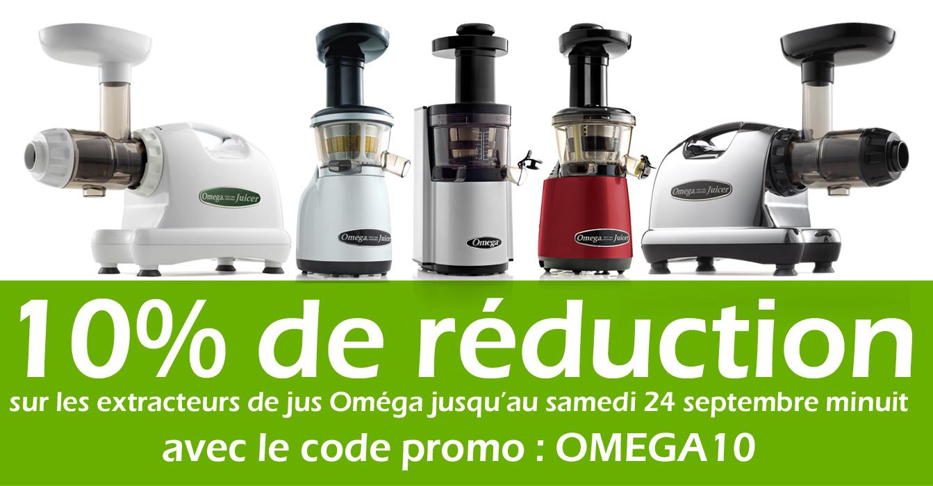 promotion exclusive jusqu samedi minuit 10 sur les extracteurs de jus omega le blog de. Black Bedroom Furniture Sets. Home Design Ideas