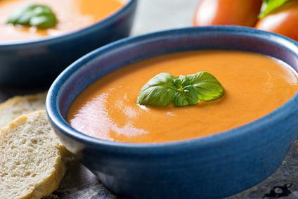 soupe de carottes et basilic