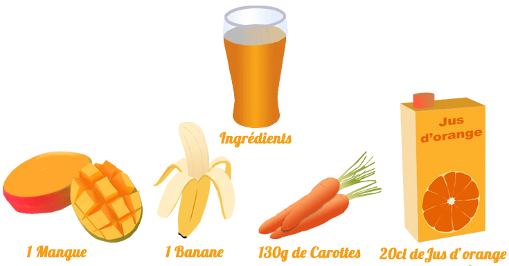 Smoothie mangue carottes