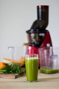 recette de jus vert automnal à l'extracteur