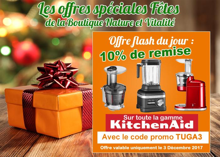 offre spéciale fêtes : 10 % de remise sur la gamme KitchenAid