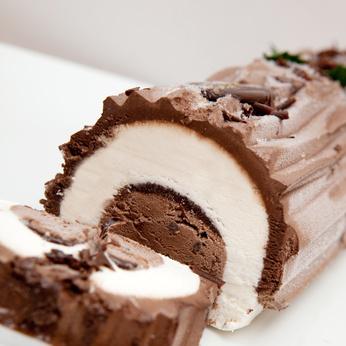 votre repas de Noël végétarien : recette de bûche glacée
