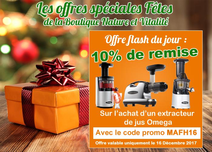 Offre pour les fêtes : 10 % de remise sur les extracteurs de jus Omega