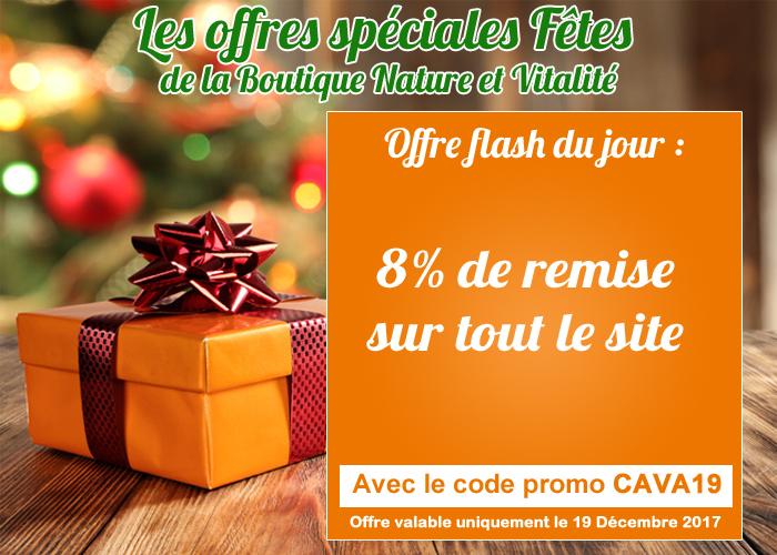 offre spéciale fêtes : 8 % sur tout le site