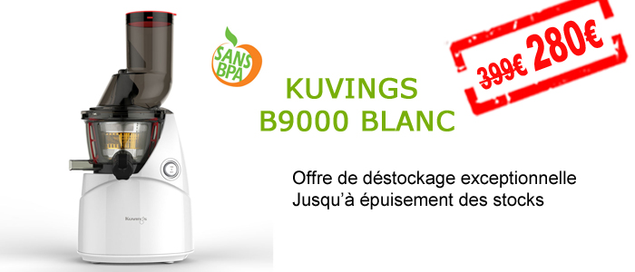 déstockage Kuvings : votre modèle B9000 à 280 euros !