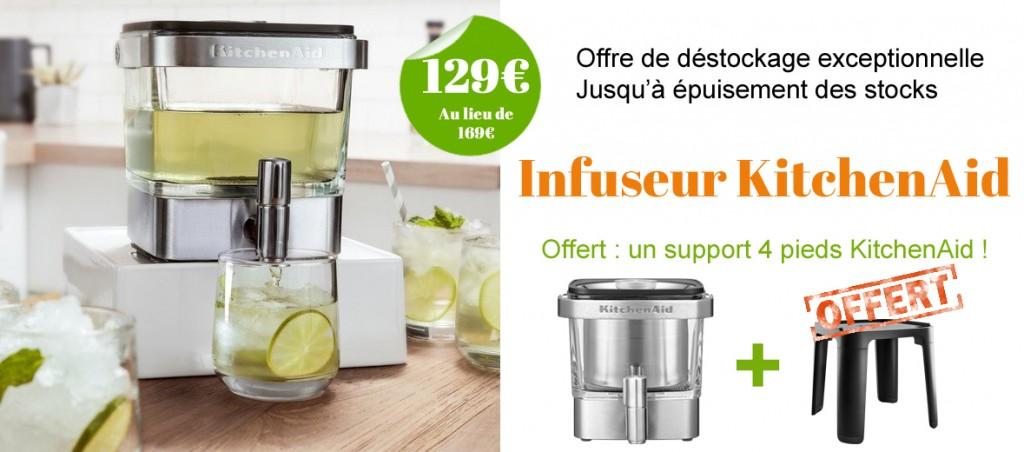 offre de déstockage : 40 euros de réduction sur l'infuseur KitchenAid!
