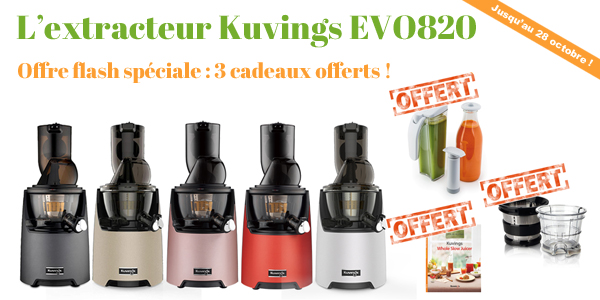 L'extracteur de jus Kuvings EVO 820, un Best-seller !