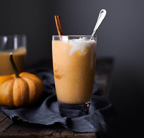 Smoothie sucré salé au potiron pour préparer Halloween