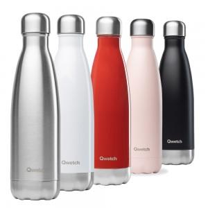 Les différentes couleurs de nos bouteilles Qwetch