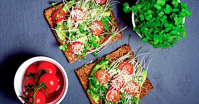 Salade graines à germer