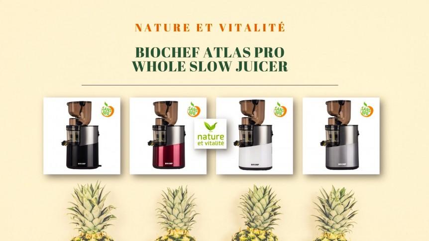 Extracteur de jus Biochef Pro Whole Slow Juicer