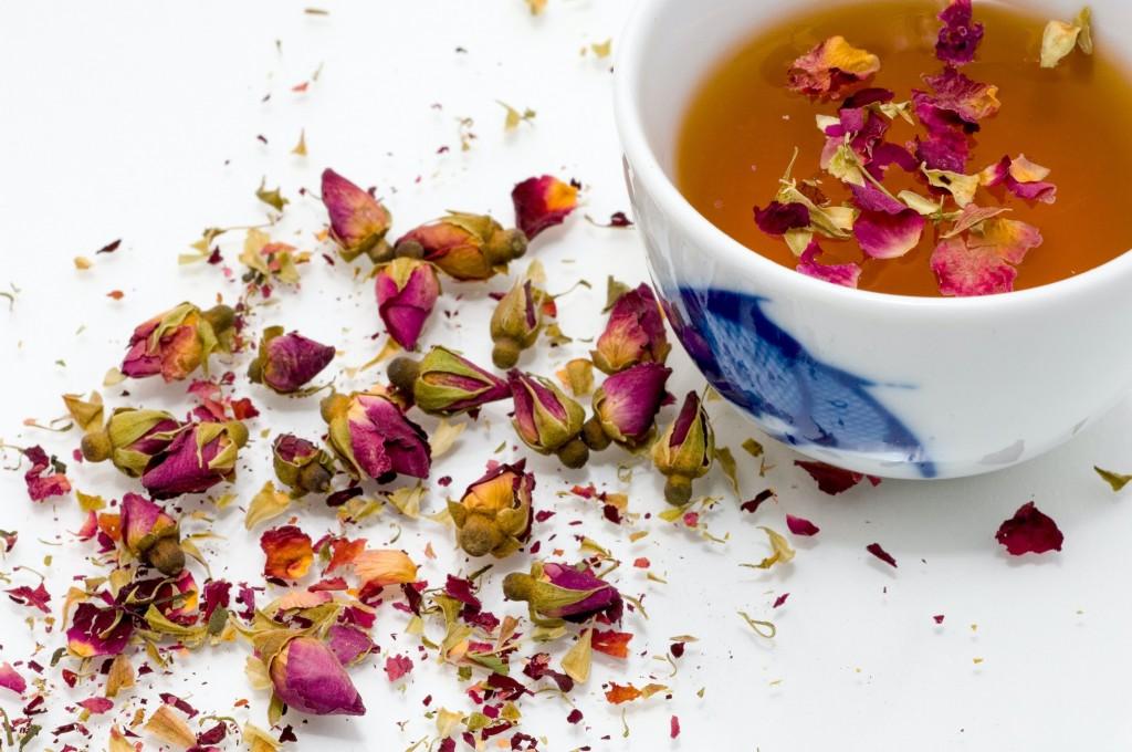 Tisane aux fleurs séchées